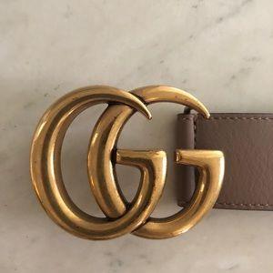 4aab91bd7b25 Gucci Accessories | Marmont Belt Size 90 Dusty Pink | Poshmark